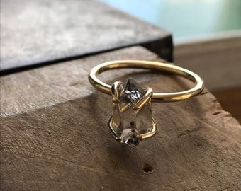 9ct GOLD Herkimer diamond set (also avaible in 14ct)