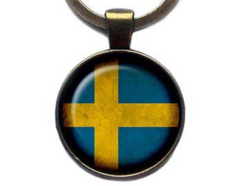 Sweden Swedish Flag Keychain Keyring
