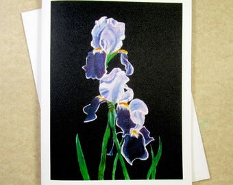 Iris Note Cards, Bearded Iris Note Cards, Purple Iris Note Cards, Blank Note Cards, Flower Note Cards, Iris Gifts, Note Card Gifts