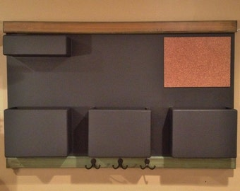 Chalkboard Mail Organizer with Colorful Distressed Frame