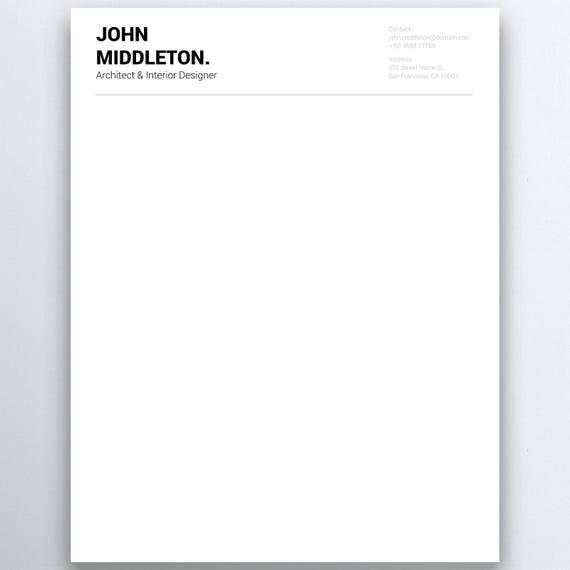 Business Letterhead Personal Letterhead Letterhead Design