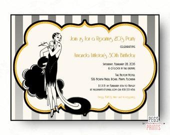 Great Gatsby Invitation // Printable Roaring 20s Birthday Invitation // Roaring 20s Invitation // Great Gatsby Birthday Invitation