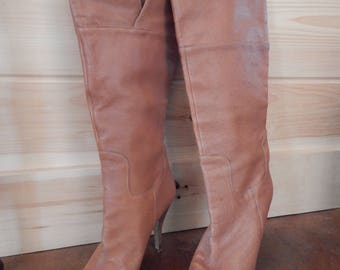 GUESS by Marciano Tan Leather Boots size 9