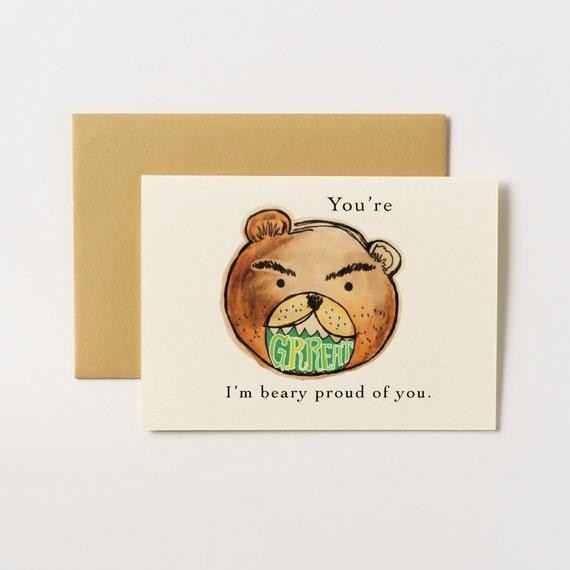 Beary Proud Bear Greeting Card