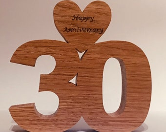 Wedding anniversary gift, 10th 20th 30th 40th 50th 60th 70th 80th wooden numbers, wedding anniversary present,pyrography