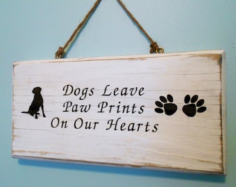 Pet Memorial Sign, Customized Plaque for Dogs and Cats