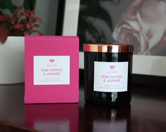 Luxury Soy Candle - Pink Pepper & Jasmine