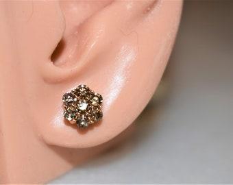 Vintage Champagne Diamond Earrings