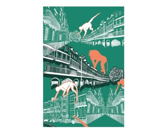 Clambering Over Clifton A3 Print
