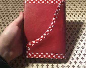A6 faux leather journal