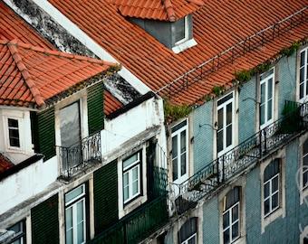 Lisbon Roof Top | Photographic Print | Photography | Landscape | Colour | Travel | Decor | Home | Wall Art