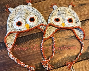 Matching Parent/Child Owl Hats