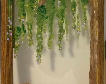 Weeping Willow Painted Picture Frame