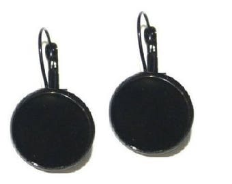 18mm, 20 black sleeper (10 pairs of earrings)