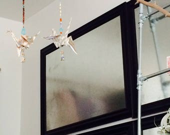 Origami Patterned Paper Crane of Hope Hanging Mobile