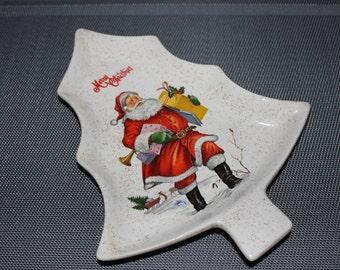 Vintage Christmas Tree Dish item 206