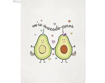 We're Avocadocorns Tea Towel Dish Cloth