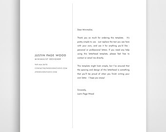 Business Letterhead, Letterhead Template, Custom Letterhead, Printable, DIY Stationary, Business Stationary, Business Kits