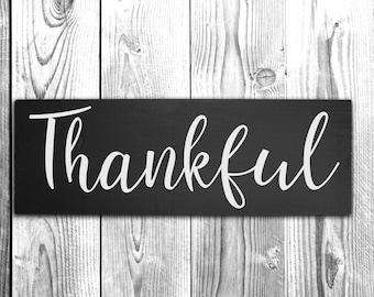 Thankful Sign - Wood Wall Decor - Fall Decor -