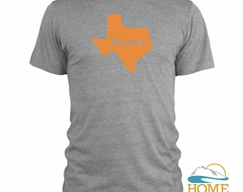 Homeland Tees Men's Texas Home T-Shirt ORANGE LOGO