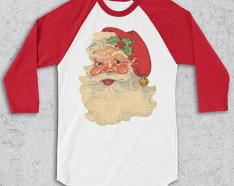 Santa Shirt - Funny Christmas Shirts - Vintage Santa -Christmas T-Shirt -Retro Santa shirts -Graphic Tee -Christmas tshirt for women and men
