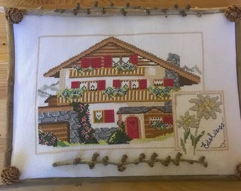 """edelweiss Cottage"" cross stitch pattern"