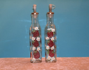 STRAWBERRY OIL and VINEGAR bottles