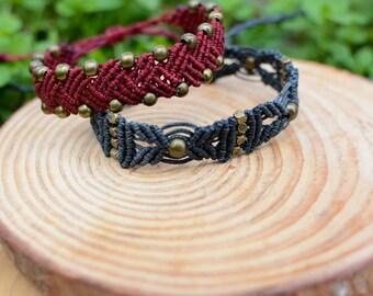 Macrame bracelet, cuff bracelet, boho bracelet, tribal bracelet, ethnic bracelet, knotted bracelet, braided bracelet, boho bracelet, anklet