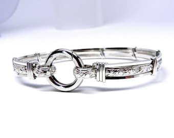 Made-To-Order Pure Elegance No 2 Sterling Silver Slave Bracelet OR Anklet
