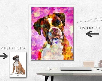 Custom Pet Art, Custom Dog Art, Custom Cat Art, Personalized Pet Art, Pet Memorial, Custom Pet Pop Art, Pet Memorial Art, Pet Tribute, Pets