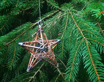 3D Handmade Copper Star Bauble - Christmas decorations