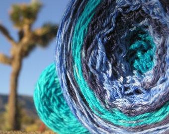 Sport Weight Yarn - Custom Dyed Shawl Yarn - Singin' the Blues