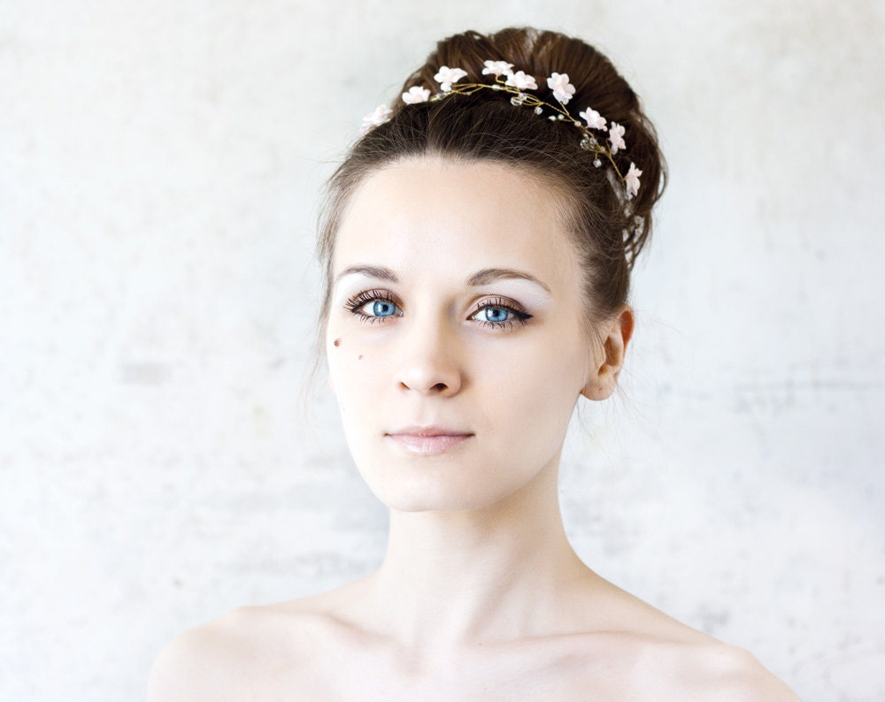 51 Floral crown Wedding tiara Wedding head piece Bridal