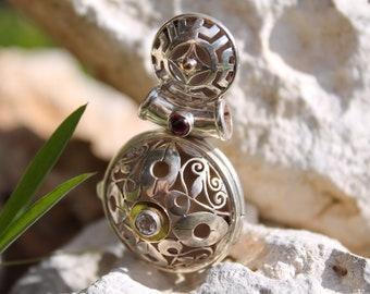 Silver ethnic pendant