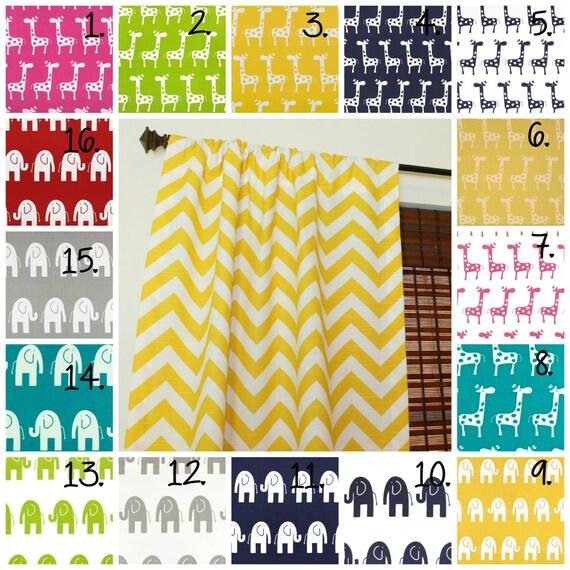 Kinderzimmer Vorhang Platten Elefant Vorhänge Giraffe Vorhang
