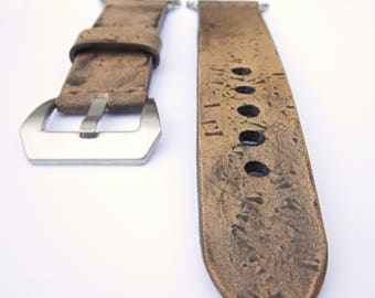 Apple Watch Band, Apple Watch Strap  42 mm Genuine Leather Vintage Brown