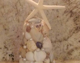 Beach House Coastal Seashell and Starfish Christmas