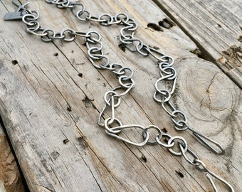 Sterling Silver Interchangeable Pendant Chain Necklace Handmade Sterling Silver Chain By Joy Kruse Wild Prairie Silver