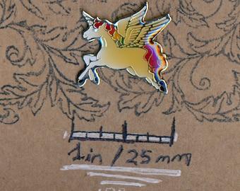 Unicorn Pegasus Pegahorn Retro Rainbow 1980s Fantasy Kawaii Vintage Lapel Pin Souvenir Hat Pin Jewelry Brooch Badge Button