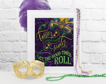 Laissez Les Bons Temps Rouler Sign, Mardi Gras Party Decoration, Mardi Gras Party Decor, Mardi Gras, Mardi Gras Parade, Party Decorations