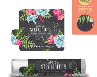 Custom Label Design - Lip Balm label design no. 003 - Make your works standing out