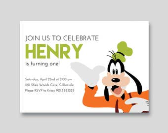 Goofy Birthday Invitation - Custom DIY Printable