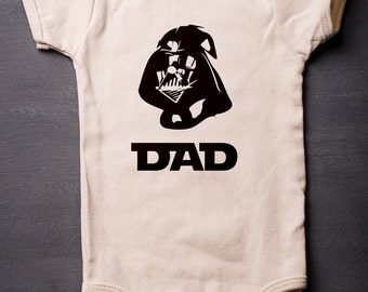 Darth Vader - Cotton Bodysuit - Galactic Dad (Choose Size) - Star Wars Bodysuit - Screen Printed