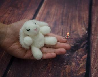 Felted Bunny Newborn Photography Prop