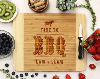 Personalized Cutting Board, Custom Cutting Board, Engraved Cutting Board, BBQ Grill Father's Day Housewarming Bamboo Wood --21135-CUTB-001