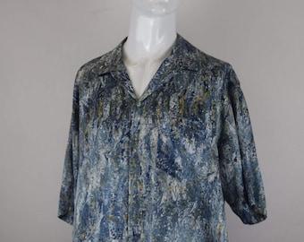 Oil Paint Mark Patterned Shirt