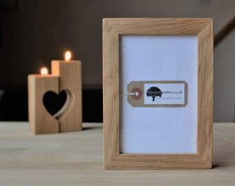 4x6 Oak Frame   Wooden Photo Frame   For Pics 4x6   Custom Wood Frames