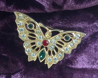 Collectable 1980s Butterfly Brooch/Pin