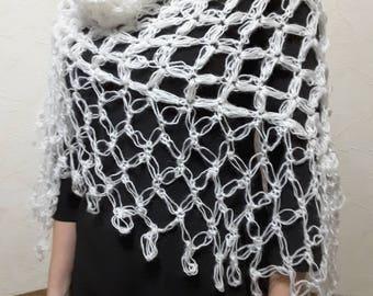 New unique handmade in Ukraine  wedding mohair angora shawl wrap capelet off white shawl wrap