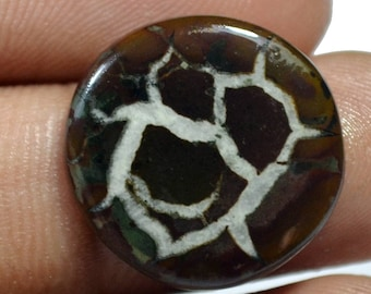 Superior 10 Ct. AAA Quality Natural Septarian Gronates 19x19x3 mm - Round Shape Handmade Cabochon Loose Gemstone - Jewelry